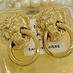 Kenneth Jay Lane Large Door Knocker Earrings